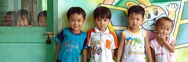 ベトナムの子どもたちの写真